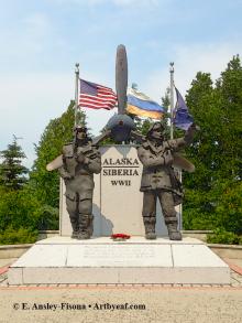 Alaska Siberia WWII Monument - Fairbanks, Alaska
