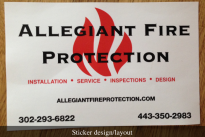 Design and layout of large rectangular riser sticker